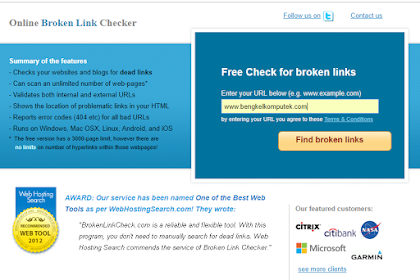 Cara Mengecek dan Mengatasi Broken Link Blog Atau Website
