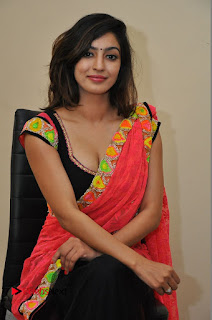 Actress Vaibhavi Joshi Pictures in Red Saree at tur Talkies 2 Movie Opening  0060.JPG