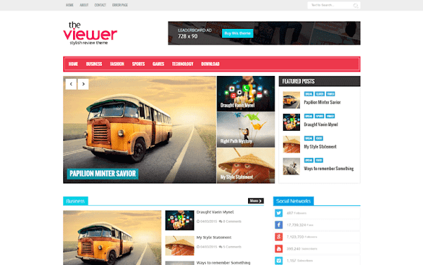 Viewer Free Blogger Template