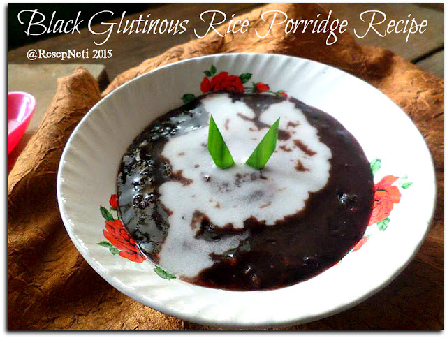 black glutinous rice porridge recipe at kusNeti kitchen 2015