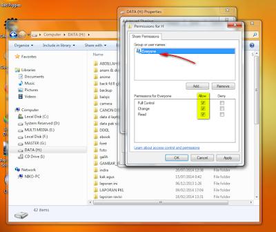 Cara Share File/Folder, Printer dan Drive Komputer Di Windows
