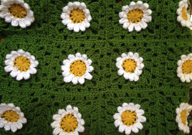 Field of Daisies Afghan | Yeti Crafts