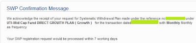 UTI Mutual Fund - Start SWP