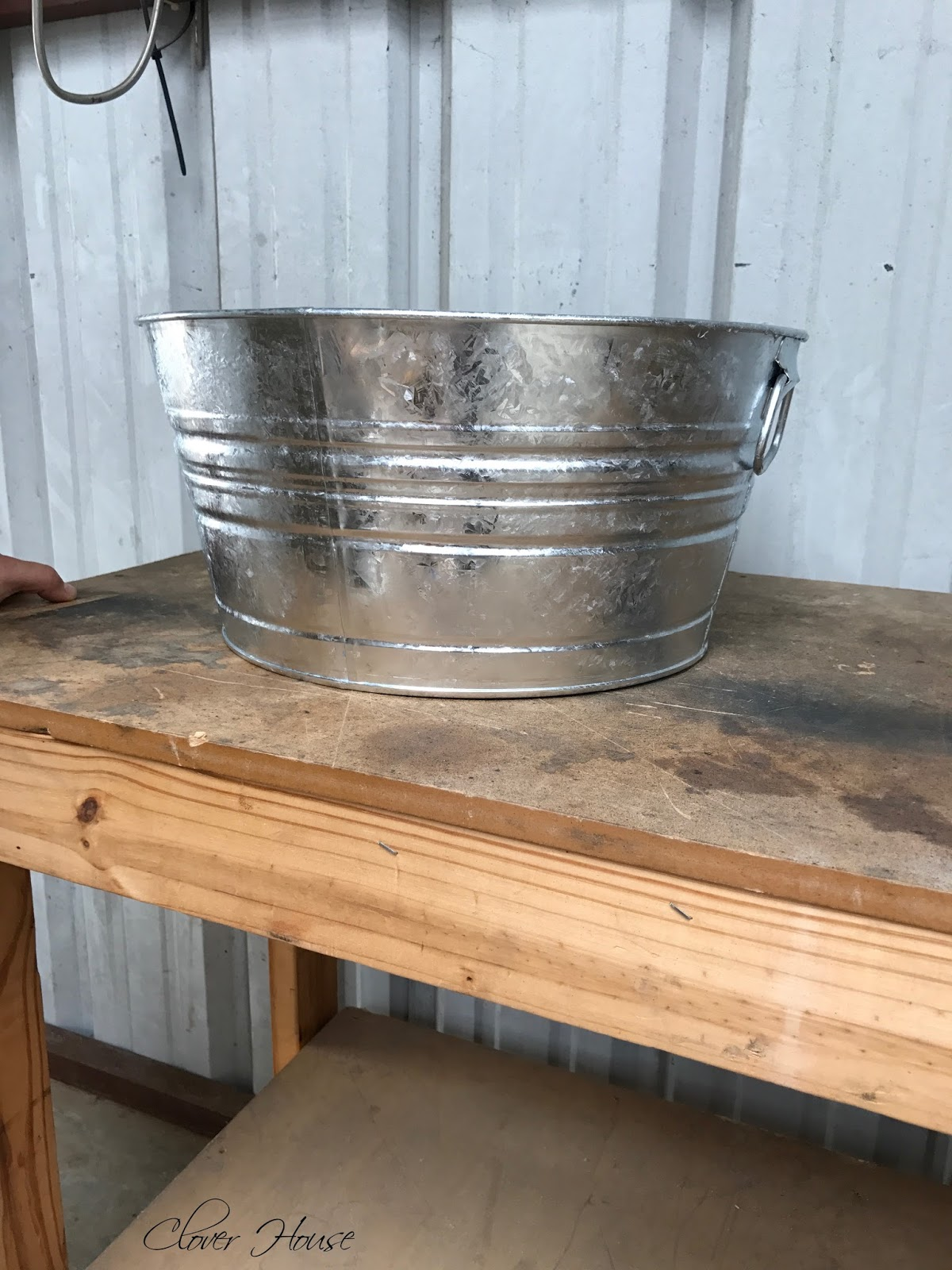 Clover house diy washtub sink for the shop for Galvanized tub kitchen sink