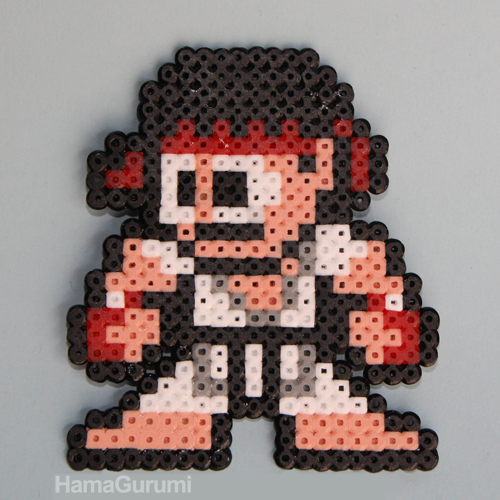 Ryu Street Fighter Hama Beads