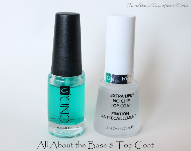 CND Sticky Base Coat and Revlon's Extra Life No Chip Top Coat