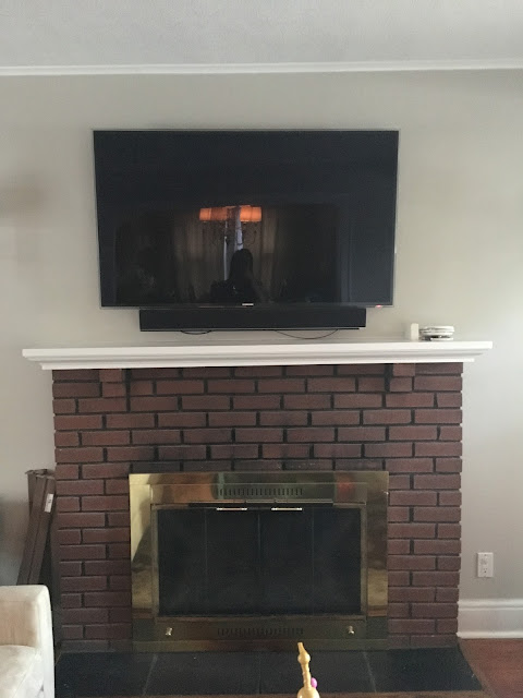 Living Room - Revere Pewter with Fireplace