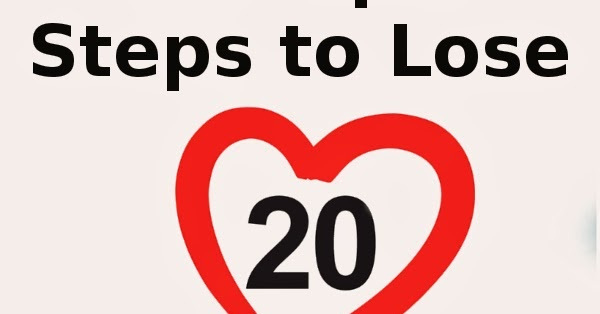5 Simple Steps to Lose 20 Pounds ~ Losing Weight For All