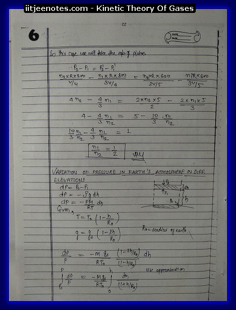Kinetic theory of gases IITJEE6