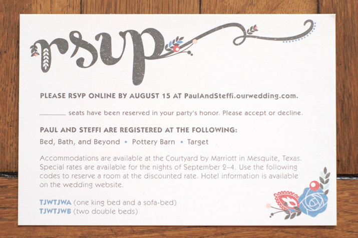 Wedding Rsvp Invitation Wording: Jamie Bartlett Design