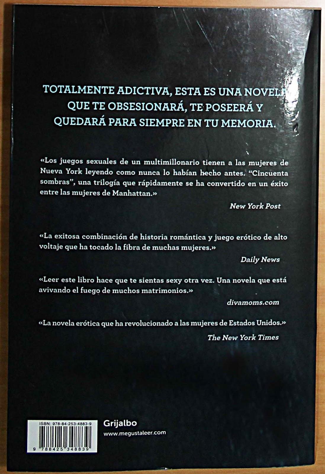 Cuarto Libro Cincuenta Sombras De Grey | En Diciembre Vuelve ...