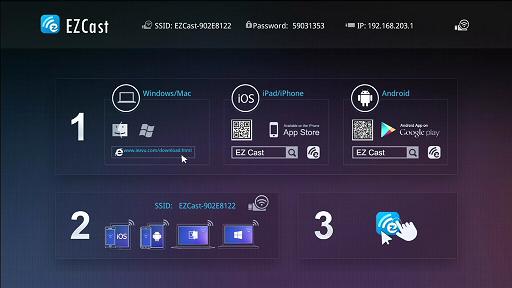 ezcast initial screen