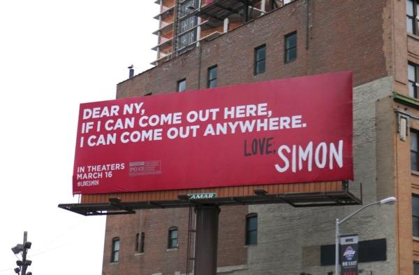 Dear NY Love Simon movie billboard