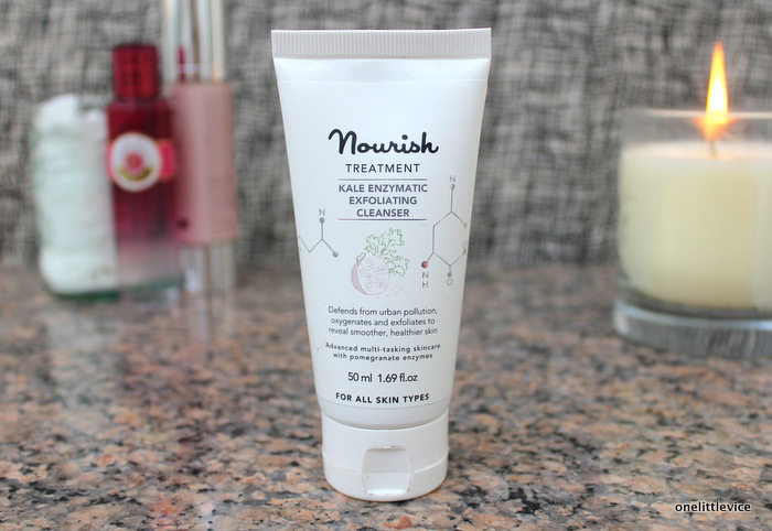 one little vice beauty blog: natural and organic chemical exfoliating cleanser