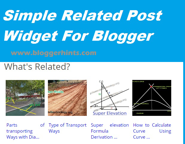 Simple Related Post Widget For Blogger