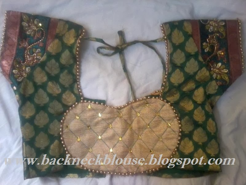 back neck blouse ready made and customized designer blouse with blouse