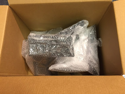 My donation to the cause - parts bubble-wrapped, and packaged ready for collection