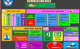 Aplikasi Raport Sekolah Kurtilas 2013 Dalam Format Versi Baru 2017/2018