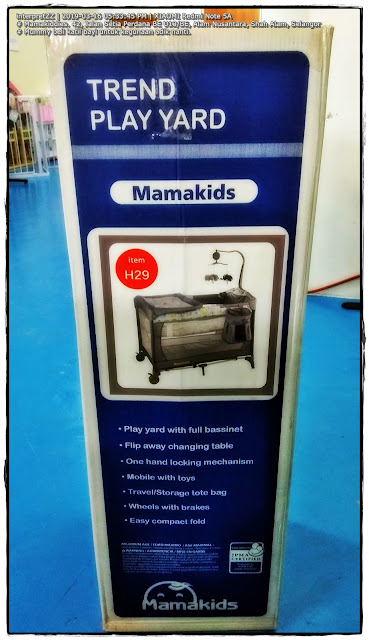 Gambar katil bayi jenama Mamakids di kedai barangan bayi Mamakiddies.