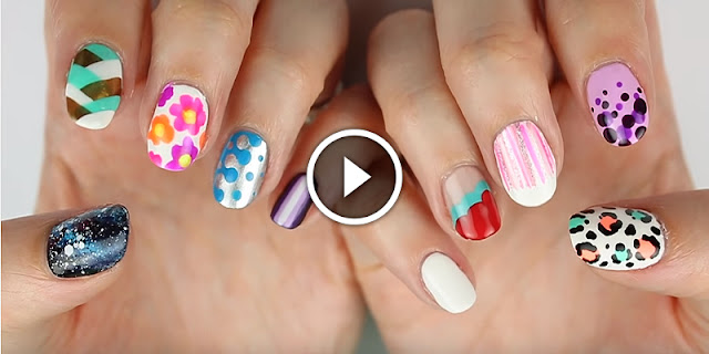 10 Easy Nail Art Designs For Beginners - See Tutorial