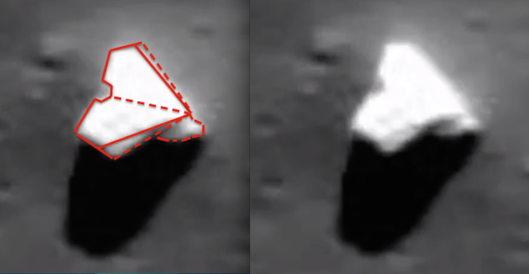 UFO SIGHTINGS DAILY: Alien Ship Found In Harriot Crater, Moon On
