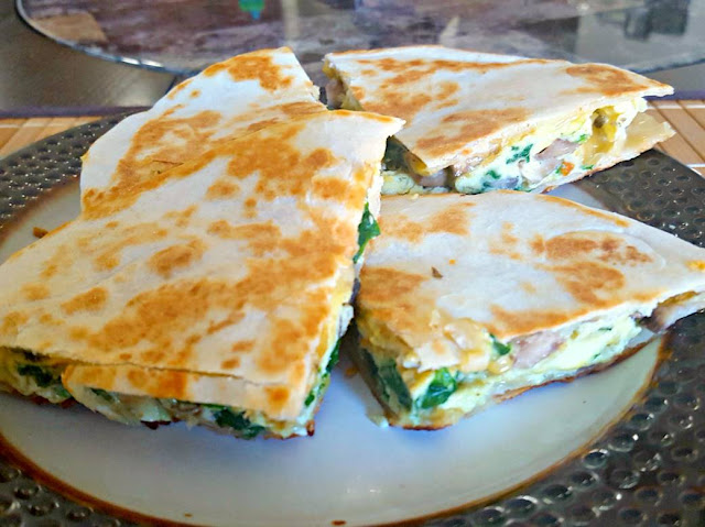 Loaded Breakfast Quesadillas