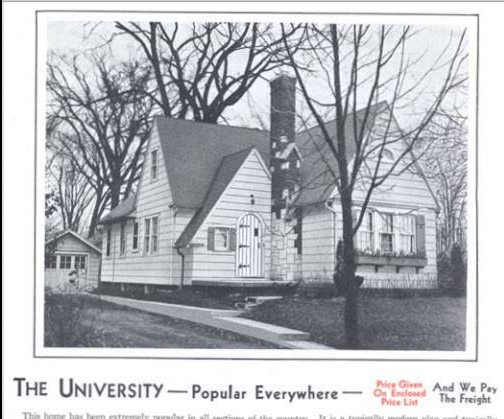 B & W photo of Aladdin Homes University model