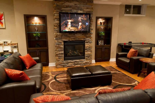 classic Stone Living Rooms Design 2016