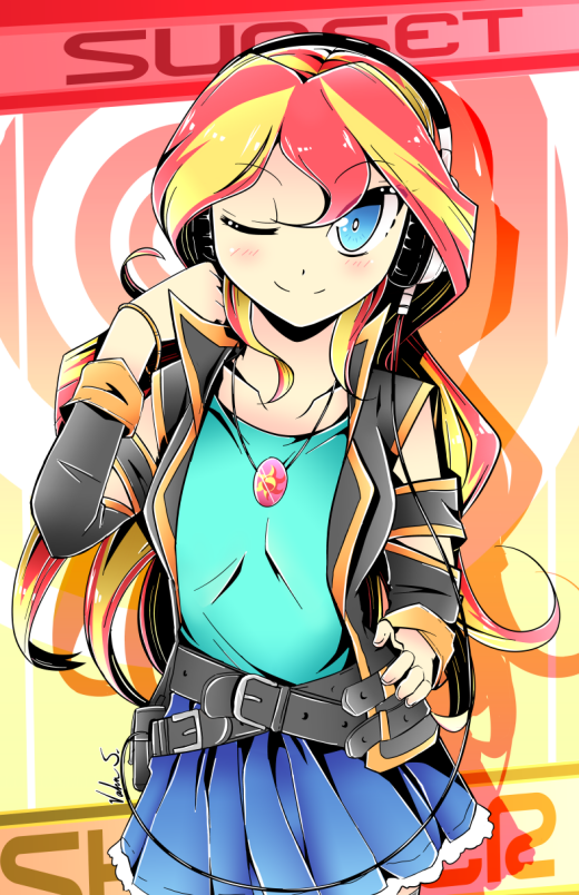 Sunset Shimmer (Manga Style) by Banzatou