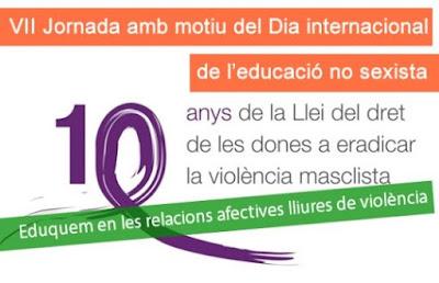 VII Jornada amb motiu del Dia Internacional de l'Educació no sexista