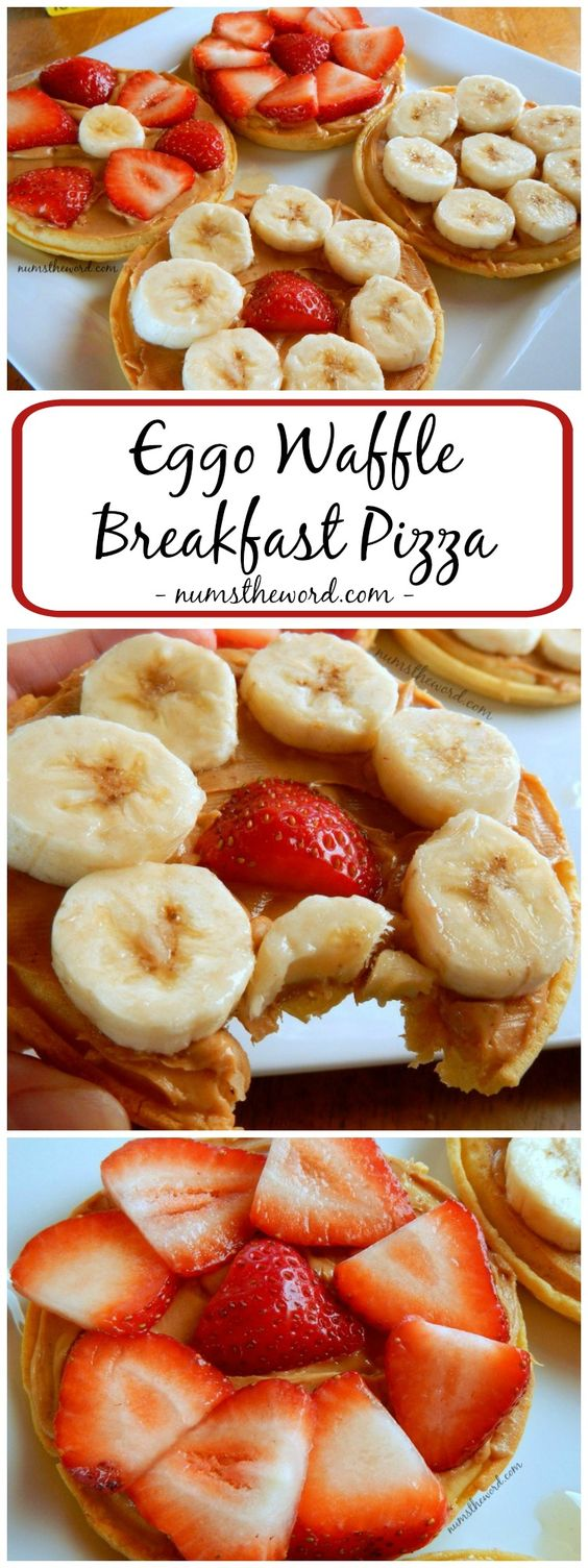 Eggo Waffle Breakfast Pizza #eggo #waffle #pizza #breakfast #breakfastrecipes #breakfastideas