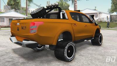 Download mod carro pickup utilitario Mitsubishi L200 Off-Road para o jogo GTA San Andreas.