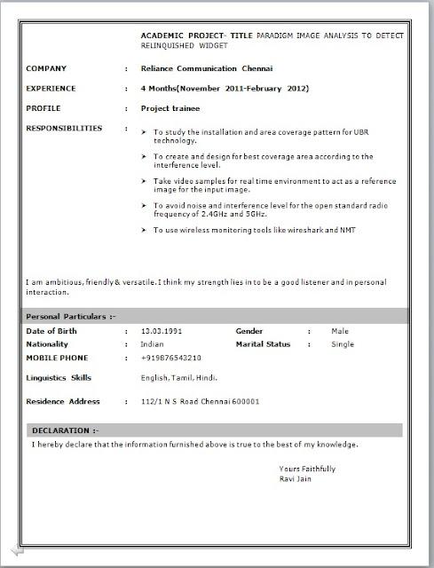 resume for mcse