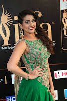 Manjusha in Beautiful Sleeveless Green Anarkali dress at IIFA Utsavam Awards 64.JPG