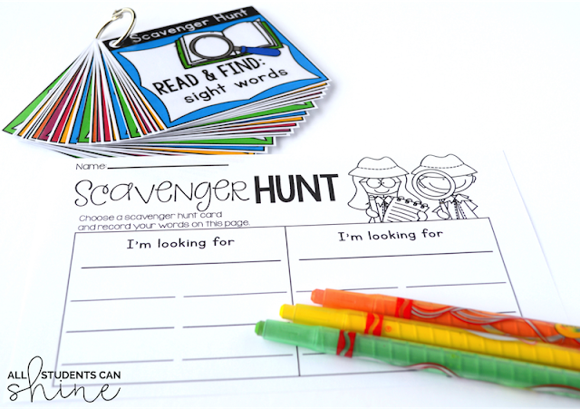 guided reading scavenger hunt