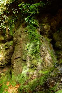 colorful rock wall Rio Viejo, Puriscal