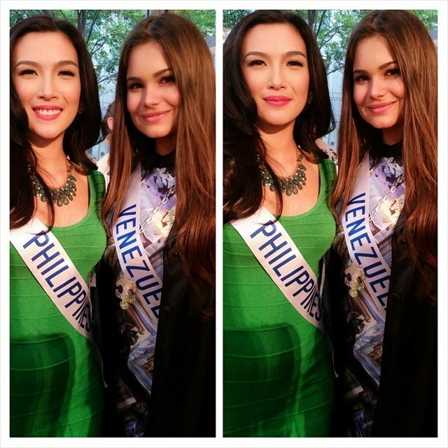 Miss International 2014 candidates Philippines and Venezuela