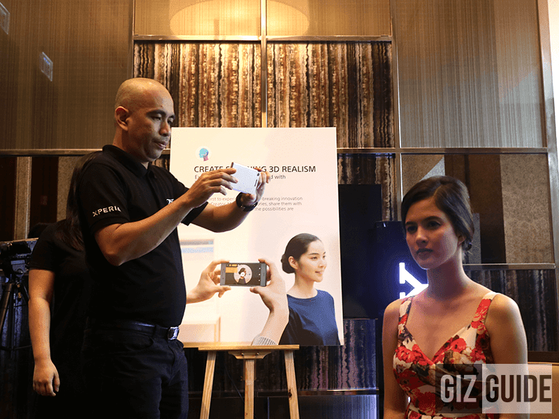 Sony Representative Performing the 3D Scan