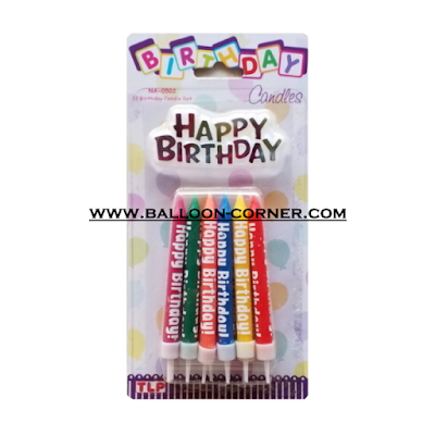 Lilin Ultah HAPPY BIRTHDAY Bentuk Pencil