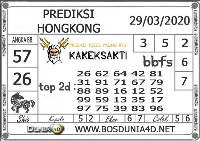 Prediksi Togel HONGKONG DUNIA4D 29 MARET 2020