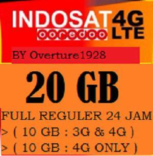 Jual Kartu Perdana Indosat ooredoo 20 Gb