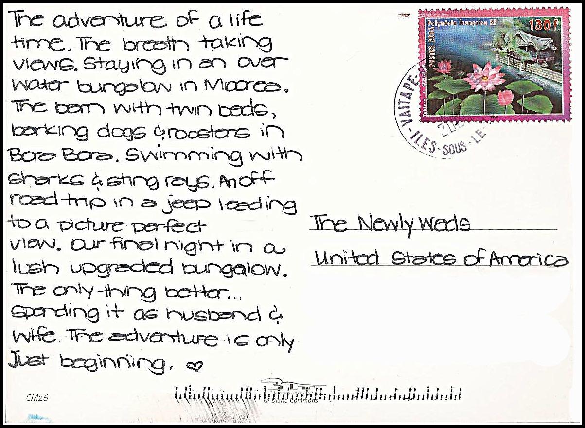 Postcard Keepsake By While Wearing Heels