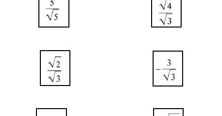 Math = Love: Rationalizing the Denominator Practice Activity