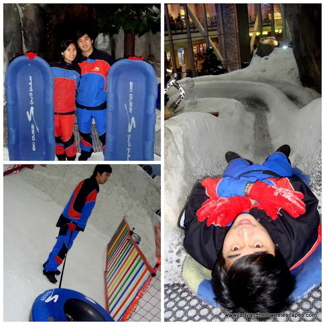 snow tubing and slide at Ski Dubai's Snow Park