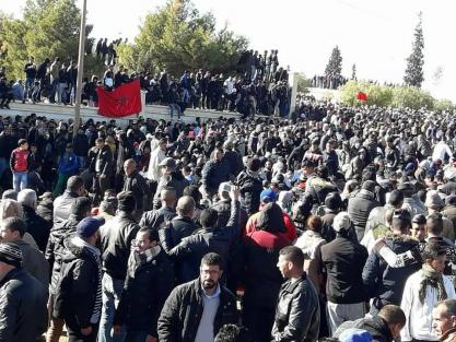 """""""شبيبات اليسار"""" تحمل الدولة مسؤولية سوء الأوضاع في جرادة وتدعو إلى الاحتجاج"""