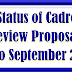 Status of Cadre Review Proposal processed in DoPT upto September, 2018