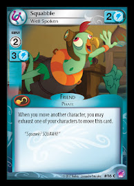 My Little Pony Squabble, Well Spoken Seaquestria and Beyond CCG Card