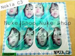 garskin, skin, skotlet, stiker, gambar tempel, handphone nokia C3 foto atau gambar sendiri alias custom foto hp