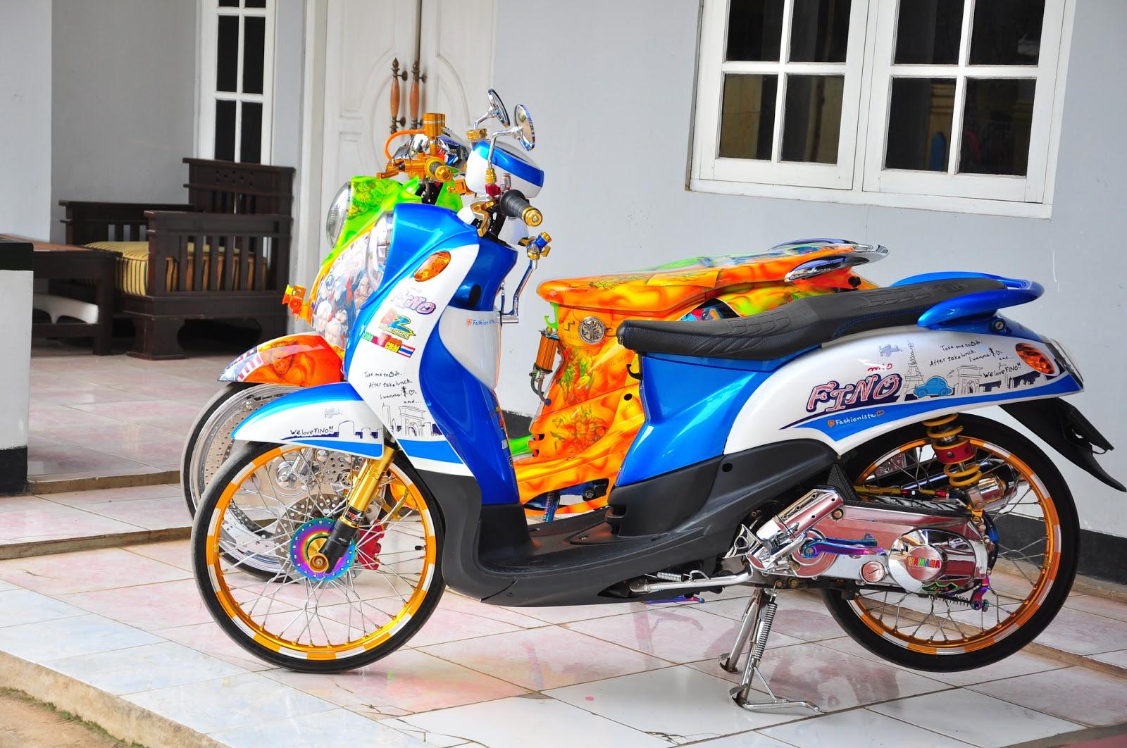 Modifikasi Motor Yamaha Fino Velg Jari Jari Terbaru