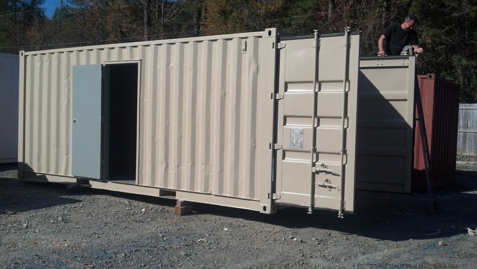 Best Kitchen Gallery: Atlanta Used Shipping Containers And Semi Trailers 2012 of Shipping Container Storm Shelter on rachelxblog.com
